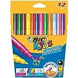 BIC Kids Cascade Fine Felt Tip Pens - Assorted Colours, Pack of 12