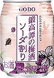 合同酒精 鍛高譚の梅酒ソーダ割り 缶 250ml×24本