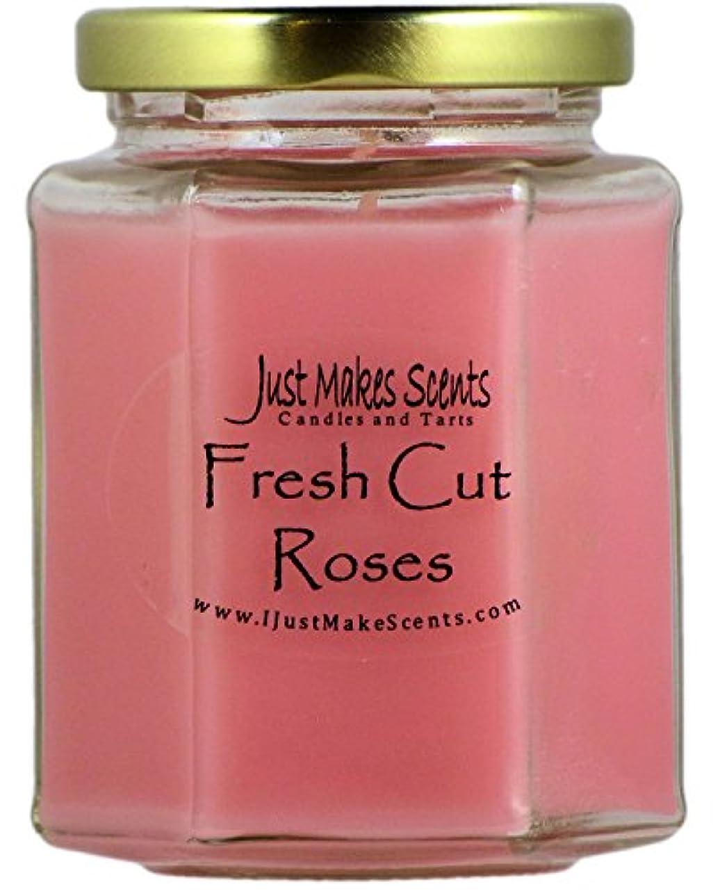 奨励します排除きゅうりFresh Cut Roses ( Compare to Yankee Candle )香りつきBlended Soy Candle by Just Makes Scents