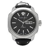 (ヴェルサーチ) VERSACE ヴェルサーチ 時計 VERSACE VQI010015 DYLOS DAYDATE ディロス デイデイト 自動巻き メンズ腕時計 ウォッチ ブラック/シルバー [並行輸入品]