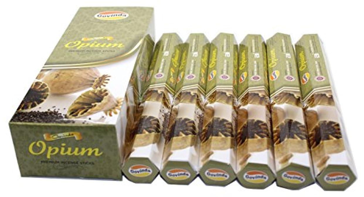 エアコンエミュレーションとても多くのGovinda ® Incense – Opium – 120 Incense Sticks、プレミアムIncense、Masalaコーティング