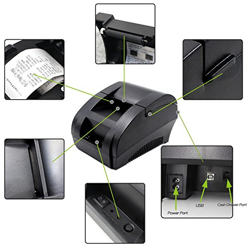 『Symcode 58MM USB サーマルレシートプリンター ESC/POS プリント指令セットと両立』の4枚目の画像