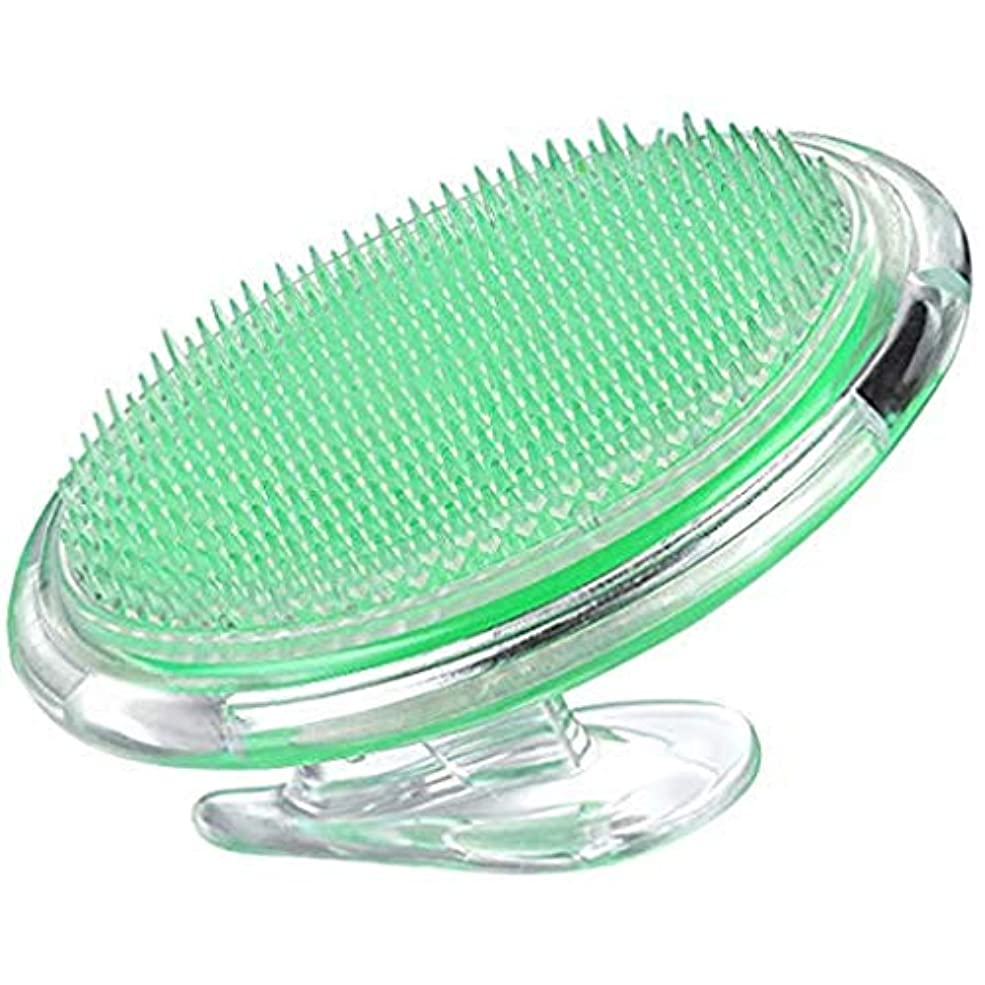 かみそりの隆起や内毛を治療し、予防するための角質除去ブラシボディブラシ - 顔、脇の下、脚、首、ビキニラインのための剃毛刺激を排除する - 女性と男性のための絹のような滑らかな肌ソリューション (グリーン)