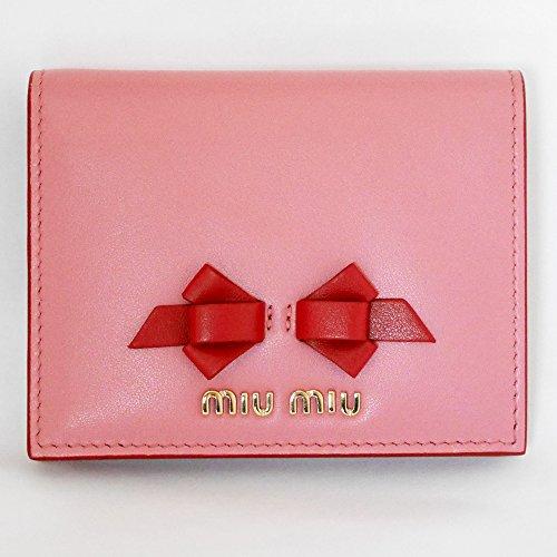 (ミュウミュウ) miu miu 財布 リボン マドラス カーフレザー 2折り財布 コンパクト 5MV204 (ピンク(pink)) [並行輸入品]