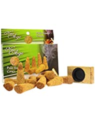 New Age Imports Palo Santo Cones with burner, 12 cones