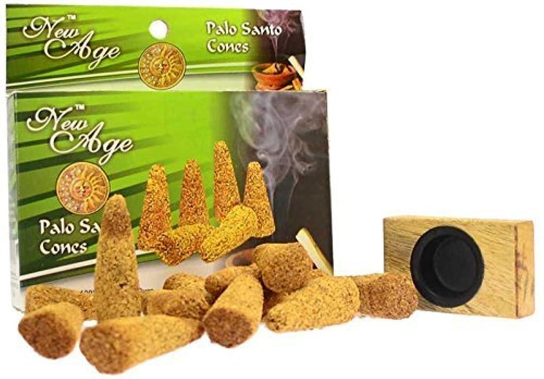 モザイク制限する虫を数えるNew Age Imports Palo Santo Cones with burner, 12 cones