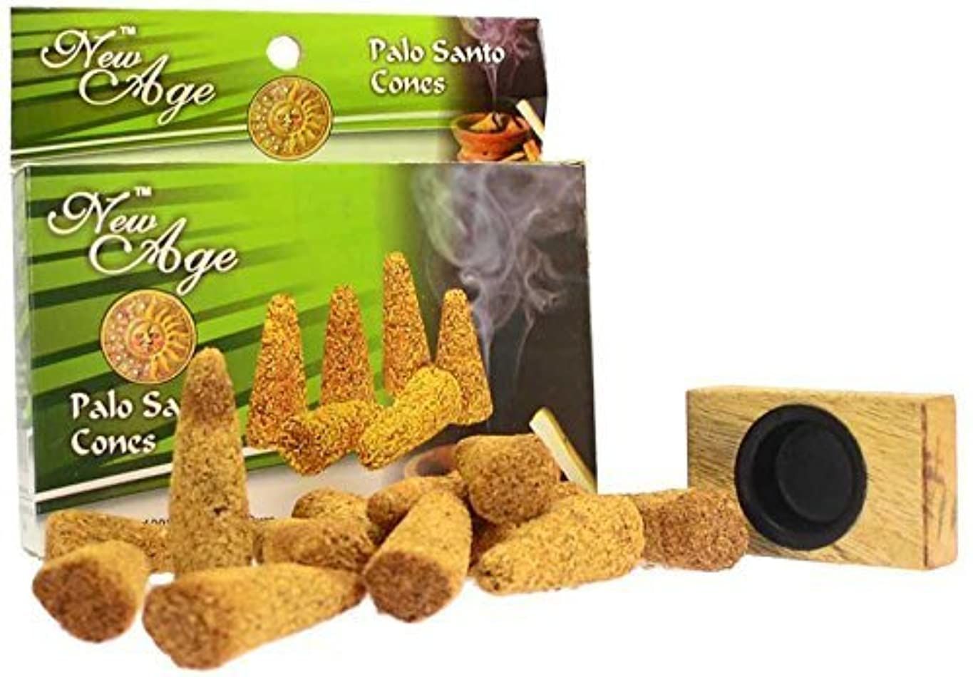 シュリンク開梱カロリーNew Age Imports Palo Santo Cones with burner, 12 cones