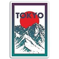 2×10センチメートル東京ビニールステッカー - 山脈ステッカーノートパソコンの荷物の#17060(10センチメートルトール)