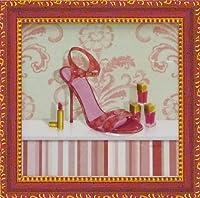 《ミニゲル アートフレーム》 キャロライン フィスク 「コーラル ピンク シュー1」/絵画 壁掛け のあゆわら