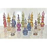 Lot of 12 Tiny Mouth Blown Egyptian Perfume Bottles Pyrex Glass