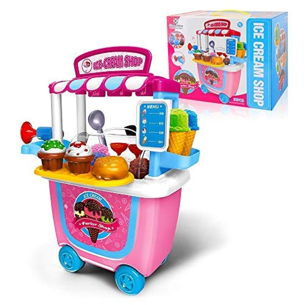 インシュレータモードリン機械的にGizmovine Ice Cream Toy (31 pcs) Pretend Food Truck Toy Play Set Ice Cream Cart for Toddler Girls 5432 Year Old [並行輸入品]
