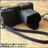 バンナイズ 帆布 の デジカメ 用 ハンド ストラップ ( 8号 帆布 製 / カラー : ネイビー )