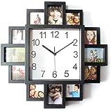Grokebo 壁掛け時計 フォトフレーム付掛け時計 DIYフレームクロック 掛け時計 壁掛け 写真立て 写真交替 フォトフレーム ウォールフレーム DIY用具 アクセサリー インテリア 写真入り 写真フレーム 雰囲気アップ 誕生日 結婚式 家の装飾