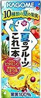 カゴメ 夏のフルーツこれ一本 200ml 紙パック 48本 (24本入×2 まとめ買い)