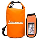 Leisurevana Watertight Dry Bag - Holds 10L of Equipment & Gear - Lightweight Dry Sack - Premium Closure Seal System - Great for Outdoors, Traveling, Camping & More - Includes Free Watertight Phone Bag [並行輸入品]