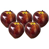 [SENYON] 食品サンプル リンゴ 果物 フルーツ ディスプレイ 模型 (濃赤, 5個)