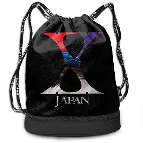 ?X JAPAN ジムサック・ナップサック 軽量 運動 旅行...