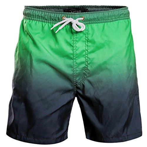 APTRO(アプトロ)サーフパンツ メンズ 水着 防水速乾 メッシュインナー 海水パンツ 短パン 海パン 1618#グリーンブラック M