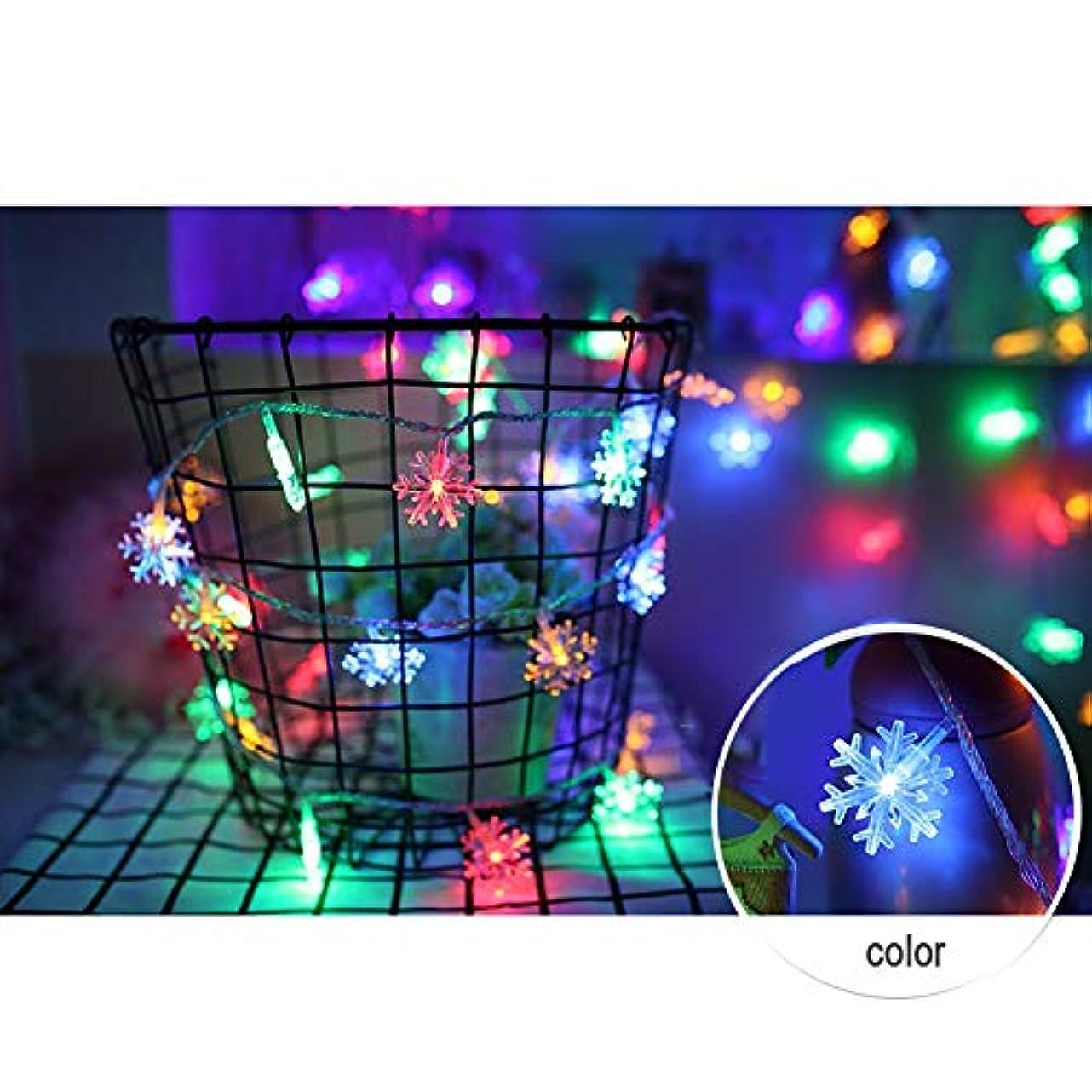 玉ねぎ左怪物電池式 ストリングライト - 防雨型 スノーフレークLEDイルミネ ーションライト ロマンチックな雰囲気を作る屋外用 ワイヤーライト イルミネーションライト、庭、パティオ、バルコニ、ークリスマス