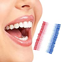 Zyary(TM) 50PCS歯フロッシングヘッド軟質プラスチック歯間ブラシ口腔衛生歯科つまようじブラシ歯クリーニングピック