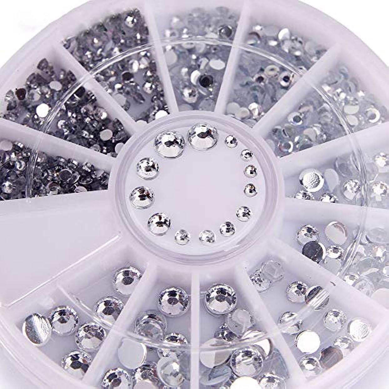 置換船形女の子400個ネイルラインストーンミックスシルバーラウンドダイヤモンド形状1.2mm/2mm/3mm/4mm 3DネイルデコレーションアクリルUVジェル