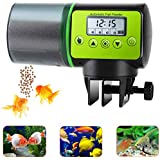 lychee Automatic Fish Feeder Electric Auto Fish Feeder Vacation Fish Feeder Moisture-Proof Fish Food Dispenser for Aquarium