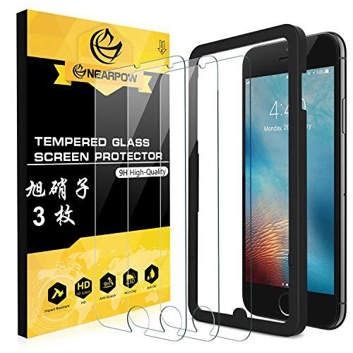 NEARPOW 【3枚入り】 iPhone 6S / 6 専用液晶強化保護ガラスフィルム ガイド枠付...