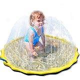 噴水マットLUERME 噴水おもちゃ プレイマット ビニール プール 子供 キッズ 水遊び 親子遊び トイ プールマット 夏 家庭用 芝生遊び シャワーおもちゃ