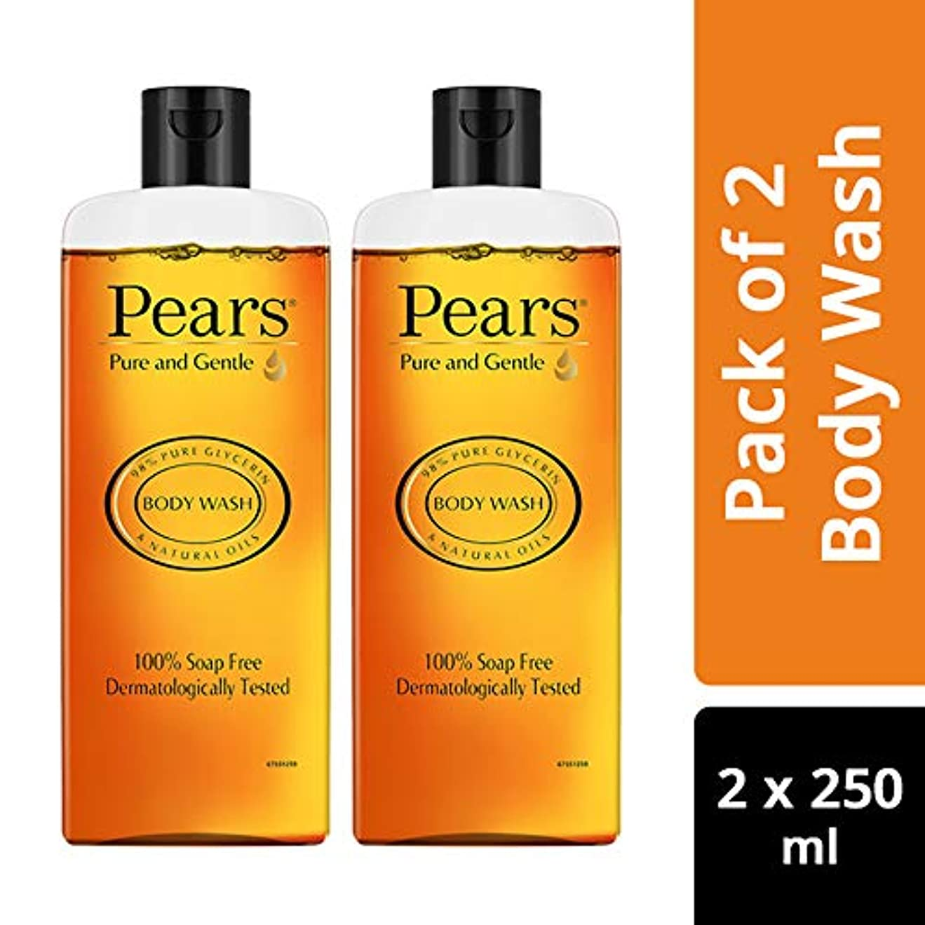 近代化気質締め切りPears Pure And Gentle Body Wash, 250ml (Pack Of 2)