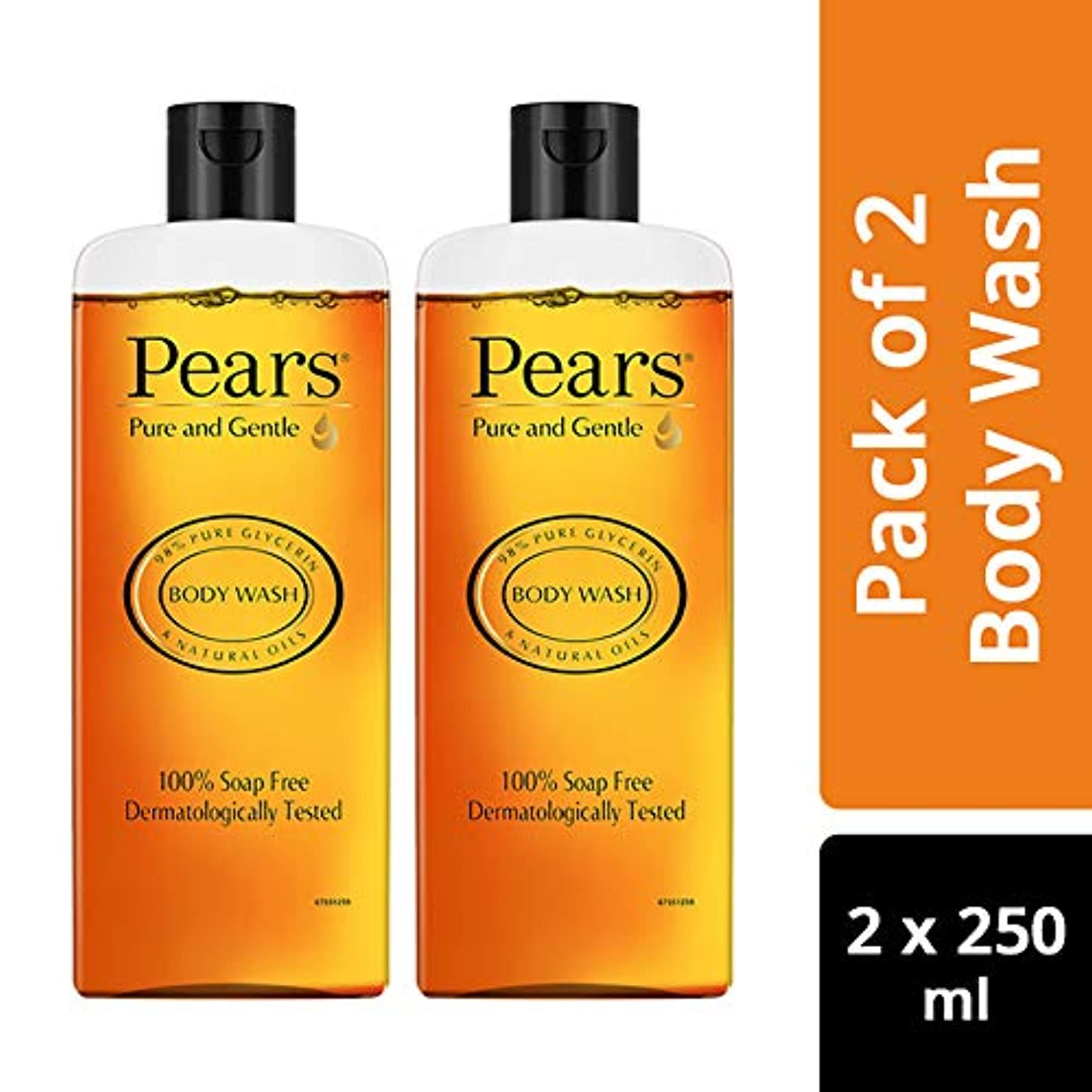 アナログに対して有効化Pears Pure And Gentle Body Wash, 250ml (Pack Of 2)
