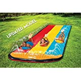 Triple Lane Slip, Splash and Slide (Updated 2020 Model) for Backyards| Water Slide Waterslide With 3 Boogie Boards | 16 Foot,