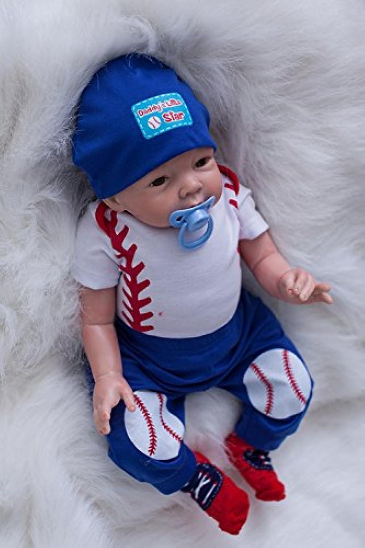 With野球服20インチRebornベビーBoy Lifelikeシリコンソフト新生児赤ちゃんリアルタッチ人形おもちゃキッズ誕生日クリスマスギフト
