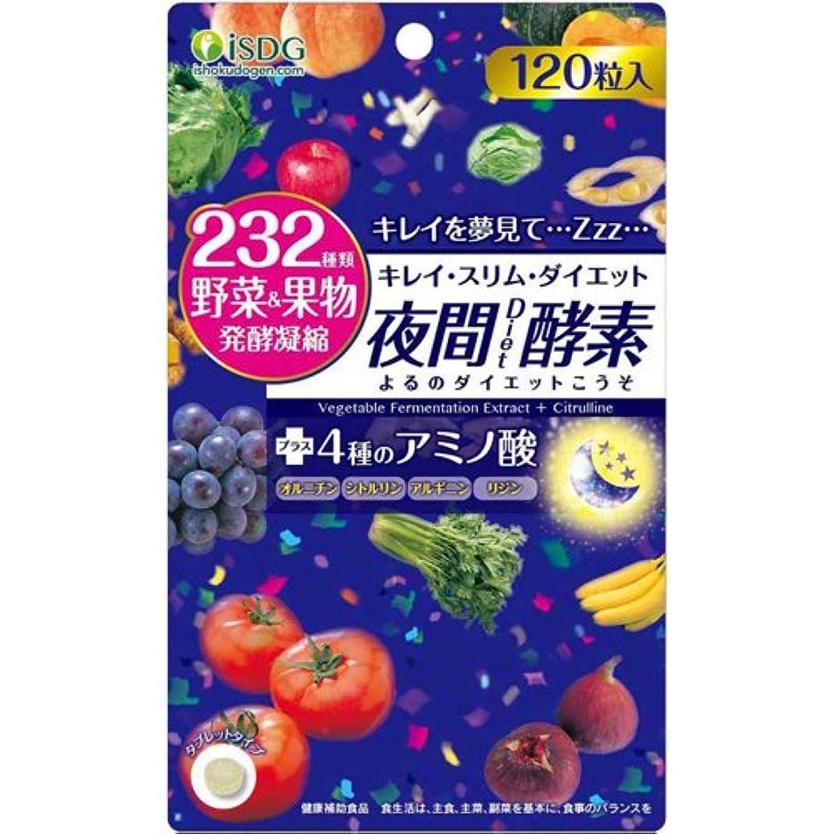 建てるオーケストラメイエラISDG 医食同源ドットコム 夜間 Diet 酵素 サプリメント [ 232種類 野菜 果物 発酵凝縮 アミノ酸 4種 ] 310mg×120粒×20個