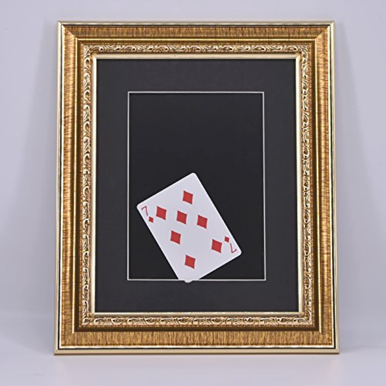 Card into Frame / 額縁カード カードがフレームに突き通る フレームに入るトランプ カードマジック 移動 近景ステージマジック道具 手品道具