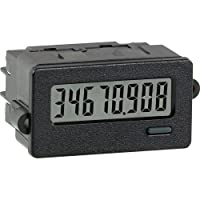 Red Lion CUB7C Low Voltage Miniature Electronic Counter Digital Panel Meter with Red Backlight, 8 Digit LCD Display, 28 VDC Input Max by Red Lion