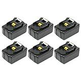【ATTOZEN】マキタ BL1840対応互換バッテリー 18V 4Ah 6個セット(MAKITA対応)