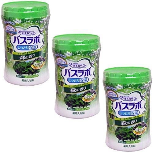 【まとめ買い】白元 HERSバスラボ しっとり保湿 薬用入浴剤 森の香り 680g【×3個】