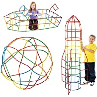 Queena 子供用 ストローコネクター 組み立て玩具 プラスチック製 組み立てブロック One size WJ-xgjm-00031-01QY
