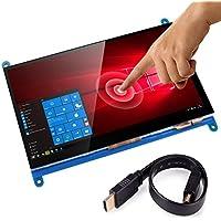 Kuman 7インチ Raspberry Pi用ディスプレイ LCD 800 * 480解像度 タッチスクリーン TFTモニタ 7インチタッチパネル+タッチペン+スクリューパック+CD資料 Raspberry Pi 3 2 Model B B+ A A+ 用ディスプレイ ラズベリーパイ SC7B