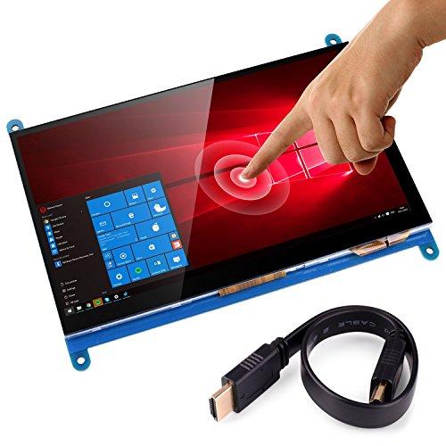 Kuman 7インチ Raspberry Pi用ディスプレイ LCD 800*480解像度 タッチスクリーン TFTモニタ 7インチタッチパネル+タッチペン+スクリューパック+CD資料 Raspberry Pi 3 2 Model B B+ A A+ 用ディスプレイ ラズベリーパイ SC7B