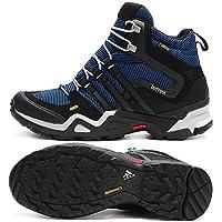 アディダス (adidas) 海外限定モデル 防水トレッキングシューズ 24.5cm テレックス Terrex FAST X HI GTX ゴアテックス ハイカットモデル B33243 ブラック/ブルー/ホワイト 国内正規品