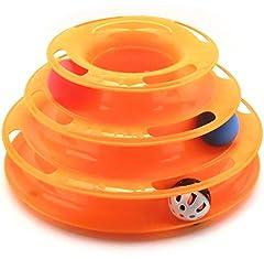 【Lucky Style】 猫 おもちゃ 遊び ボール 鈴 入り 鈴音 運動不足 ストレス 解消 ペット用品 オレンジ
