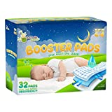 Naturally Nature Overnight Diaper Doubler Booster Pads with Adhesive for Pull-on & Regular Diapers | Nighttime Leak Protection for Heavy Wetters and Active Sleepers for Boys & Girls