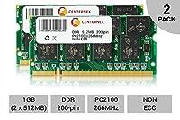 1GBキット2x 512MB Dell Latitude 100l c540C640C840d400d500d600Ramメモリby centernex