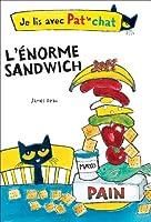 猫のパットと一緒に読んでいる:巨大なサンドイッチ