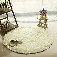 ラグ ベージュ 円形ラグ シャギーラグ 北欧 rug 120×120 円形 マイクロファイバーシャギー 80*80 ラグマット シャギーラグ 滑り止め カーペット 洗える 冬用 夏用 折り畳み 可能 シンプル 無地 北欧 絨毯 屋内用 抗菌防臭