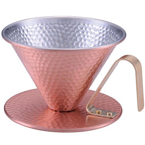 田辺金具 純銅のコーヒードリッパー 槌目 シルバー (4086) 150ml