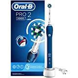 Oral-B PRO 2000 Electric Rechargeable Toothbrush, Dark Blue – Powered by Braun