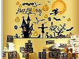 【ノーブランド品】ウォールステッカー ハロウィン 2枚 セット かぼちゃ(シール 1)