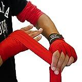 king2ring ボクシング バンテージ グローブ キックボクシング ムエタイ 格闘技 にも 収縮タイプ black